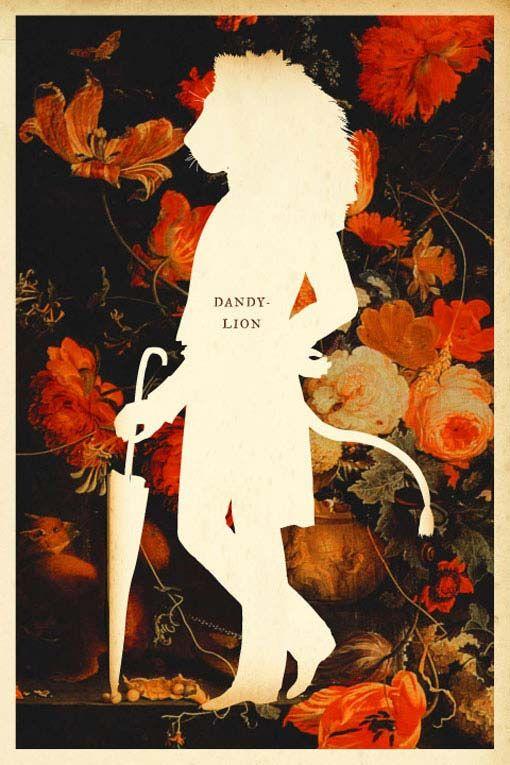 Dandy-Lion: Silhouette Art, Illustration, Masterpiece Theatre, Silhouette Masterpiece, Prints, Dandylion, Cut Outs, Flower, Dandy Lion