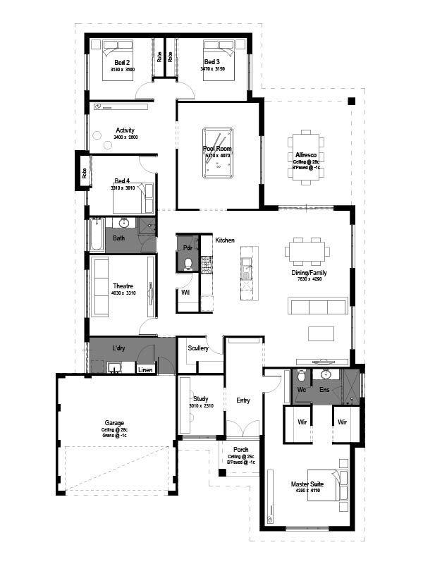 23 best New Home Ideas images on Pinterest House design, House - copy blueprint homes wa australia