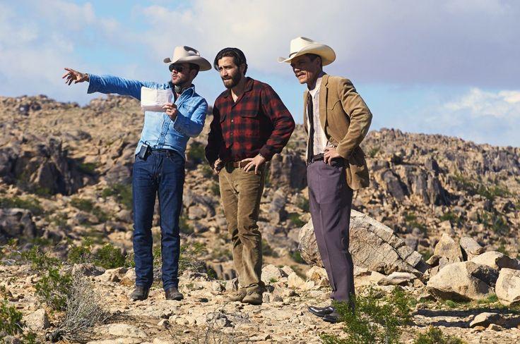 Том Форд, Джейк Джилленхол и Майкл Шеннон на съемках «Под покровом ночи»