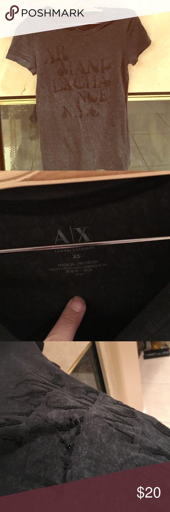 Armani T shirt bling Armani T shirt bling A/X Armani Exchange Tops Tees - Short Sleeve