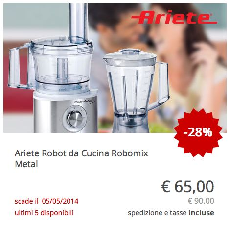 #Ariete Robot da Cucina Robomix Metal