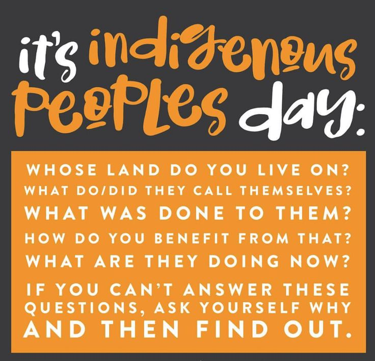 """""""Happy Indigenous[ a.k.a. Place-Based Living] Peoples Day.  I'm hoping that you'll spend a few minutes thinking about these questions. And then you know, [why not consider] support[ing] a native business, a native artist, go buy a book from a native author. Donat[ing] to Standing Rock. Bring[ing] up native people when we aren't at the table. Remember that we are still here.  #interrogatethenarrative #indigenouspeoplesday #wearestillhere — at Voices For Racial Justice.""""…"""