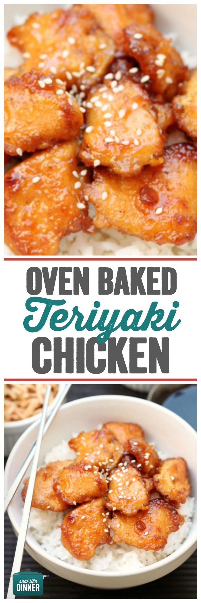 This recipe is AMAZING! Taste just like take out, but better. You will never use another Teriyaki Chicken recipe again! ~ http://reallifedinner.com