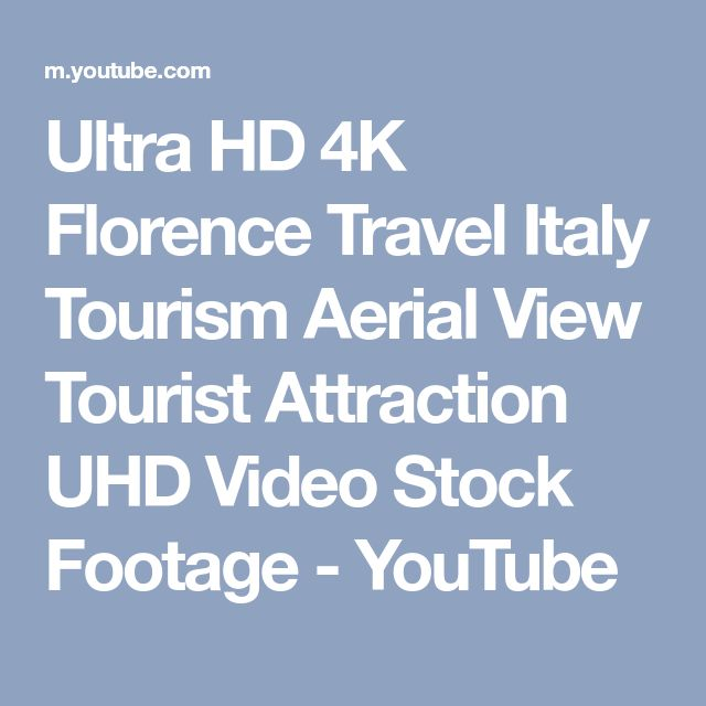 Ultra HD 4K Florence Travel Italy Tourism Aerial View Tourist Attraction UHD Video Stock Footage - YouTube