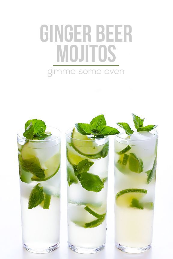 Ginger Beer Mojito -- All you need are 4 ingredients to make this fresh and tasty drink!