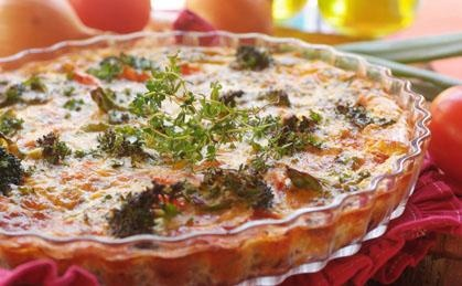Lentil, Broccoli and Cheese Quiche | Viva Vegetables | Pinterest