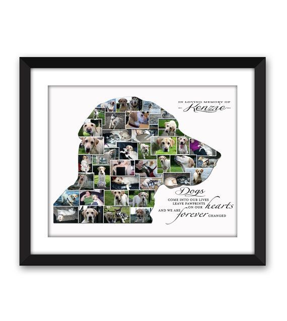 Your own Dogs Head Silhouette Memorial Rainbow Bridge Pet loss Dog Best friend…
