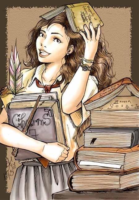 Hermione regresó a Hogwarts para completar su séptimo año de estudios y su EXTASIS. Harry y Ron no lo hicieron.