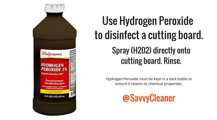 #Cleaning cutting boards with hydrogen peroxide #cookinghacks #cookingtips #Cooking