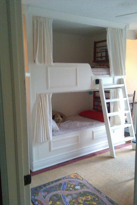 diy built in bunk beds plans 2