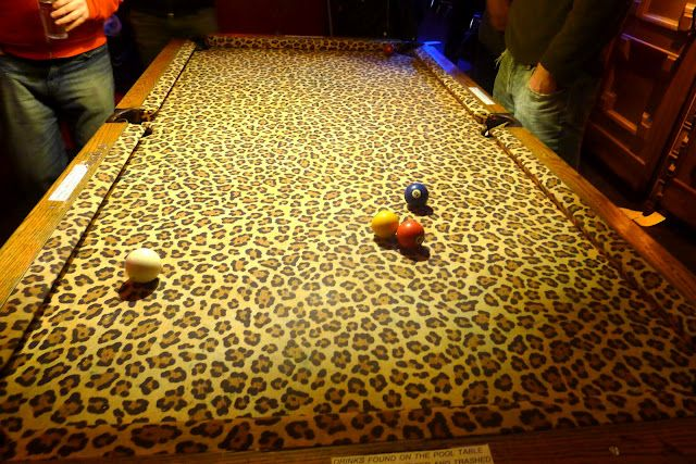 leopard print pool table!  WANT!