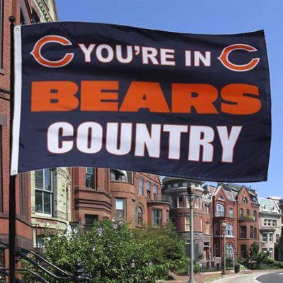 Chicago Bears Navy Blue 3' x 5' Bears Country Flag