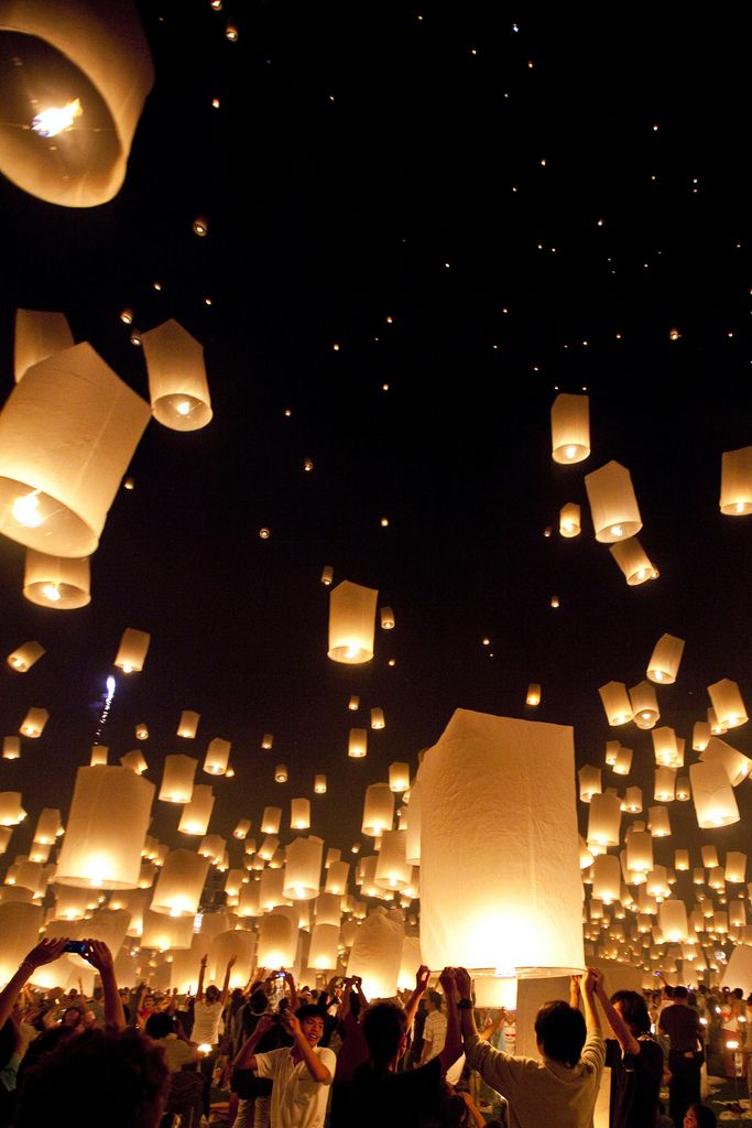 Festival of Lanterns, Chiang Mai, Thailand by Kelvin Joseph  Oh it reminds me of Tangled!!