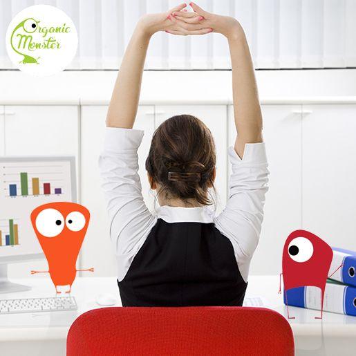 Seharian duduk di kantor bisa berdampak buruk buat kesehatan, Monsters. Imbangi dengan melakukan peregangan dan berjalan kaki.