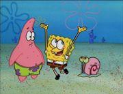 Patrick SpongeBob and Gary Opposite Day