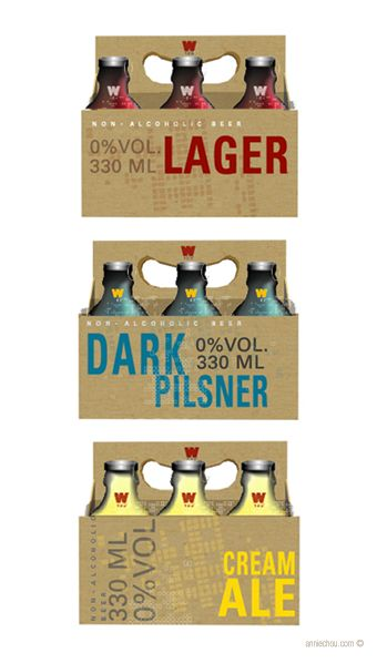 West 123 Degree. Attractive non-alcoholic #beer #packaging PD