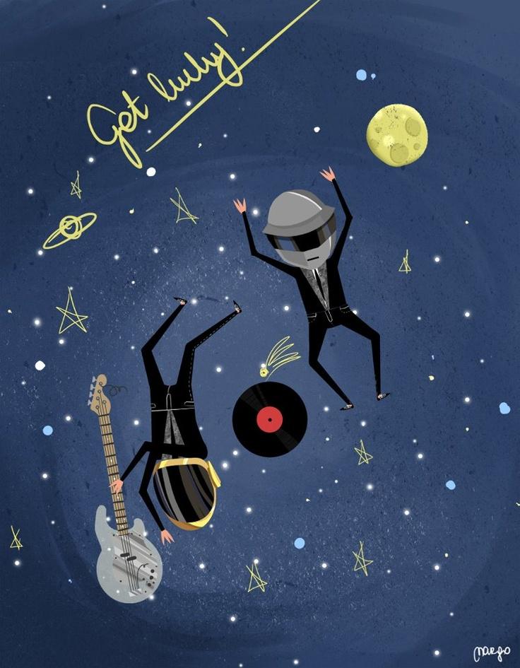 Daft Punk Get lucky  by Margo Dumin  www.margolcia-dumin.blogspot.com