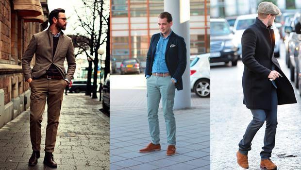 Мужские коричневые туфли с чем надеть