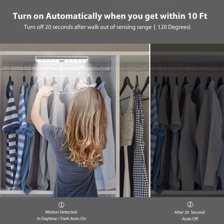 Led Closet Light In 2020 Closet Lighting Led Closet Light Motion Sensor Closet Light