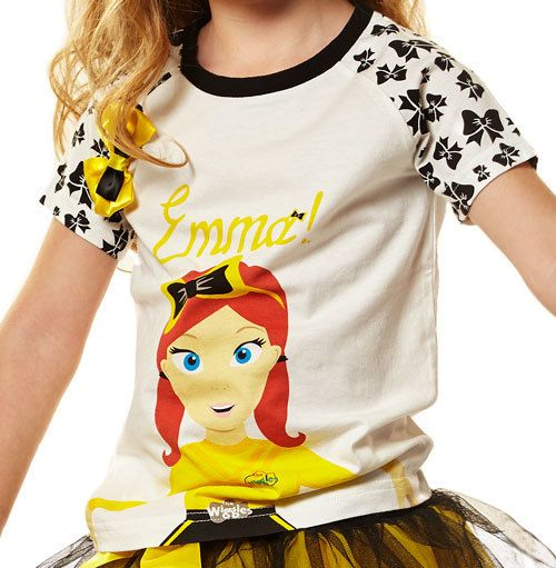 View product image in popup: The Wiggles Emma Raglan T-Shirt [Size: 4] $16.09