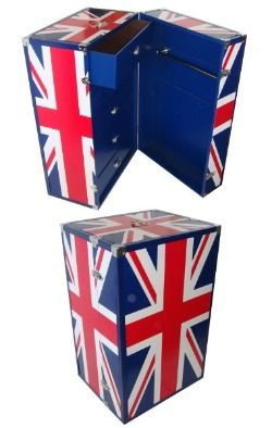 Union jack chest luggage trunk drawers - R1-9380