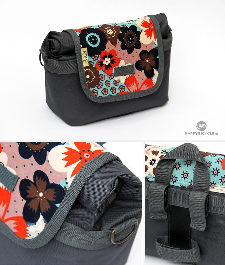Nice combination from Maria! Handmade Handlebar #Bag for daily use on your shoulder or on your #Bicycle. You know you can choose your colours and your fabric! By HappyBicycle.pt