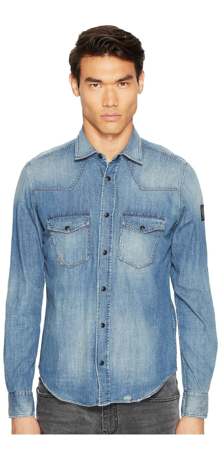 Bring it on!  Become a big wheel and take off to glorious excitement in the #BELSTAFF Someford #Washed #Denim #Shirt. #mens #apparel #clothing #shirts #tops