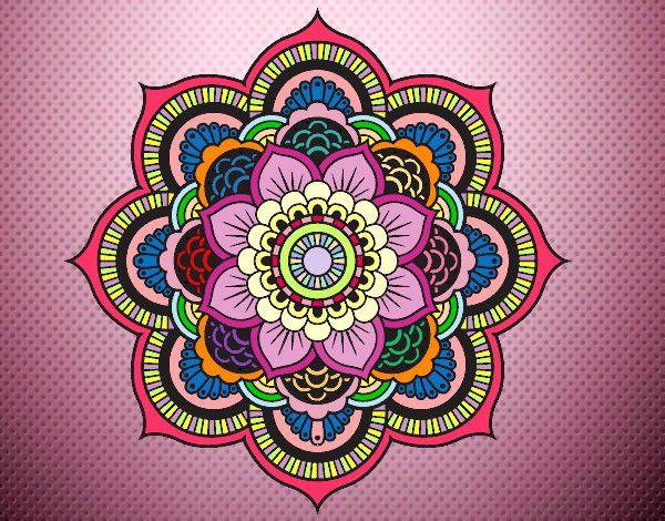 Mandala flor oriental ideas para el hogar mandalas - Colores para mandalas ...