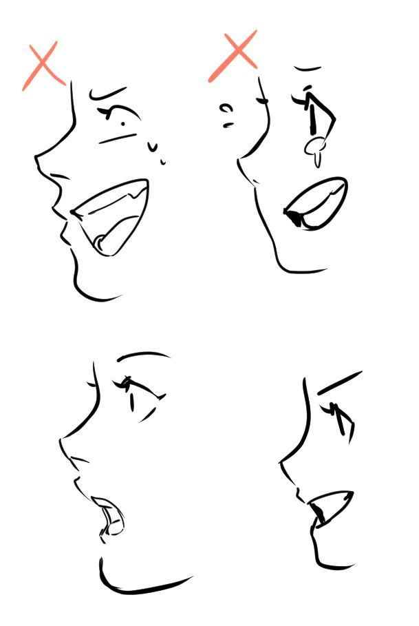 Drawing Tutorial Just A Reminder When Drawing Mouth On Face Side View It Pains Me To See Someone Doing Drawing Reference Mouth Drawing Art Inspiration Drawing