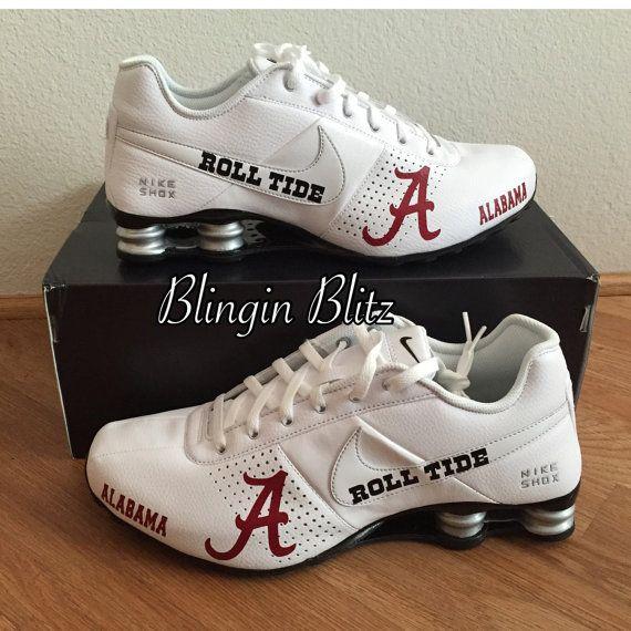 7cc687209f8430 ... Mens Alabama Nike Shox by BlinginBlitz on Etsy ...