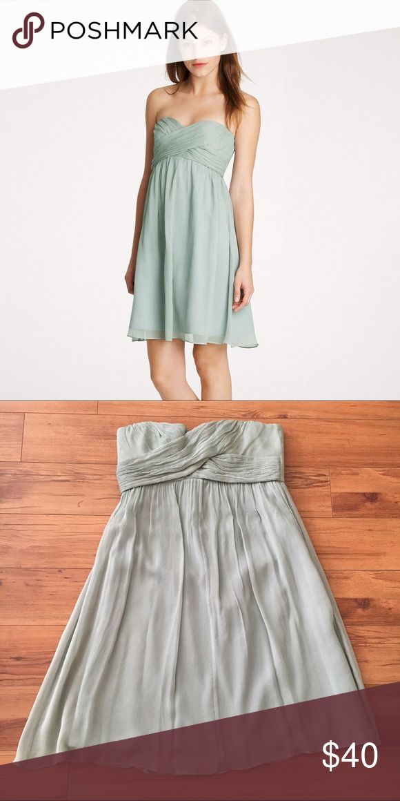 J. Crew Taryn Dress Beautiful silk dress from J. Crew. I believe the shade is called Dusty Shale - a light, mint green. Perfect for date night or a spring wedding! J. Crew Dresses