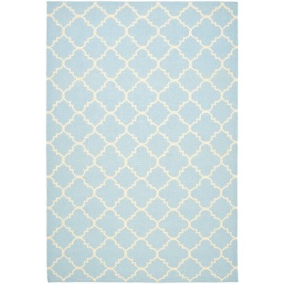 For the Dining room...http://www.target.com/p/Dhurries-Wool-Area-Rug-Light-Blue-Ivory/-/A-13922775