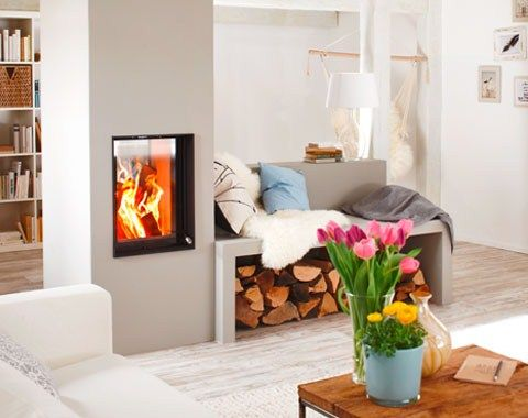 76 besten Ofen im Wohnzimmer Bilder auf Pinterest Kamine - wohnzimmer modern mit ofen