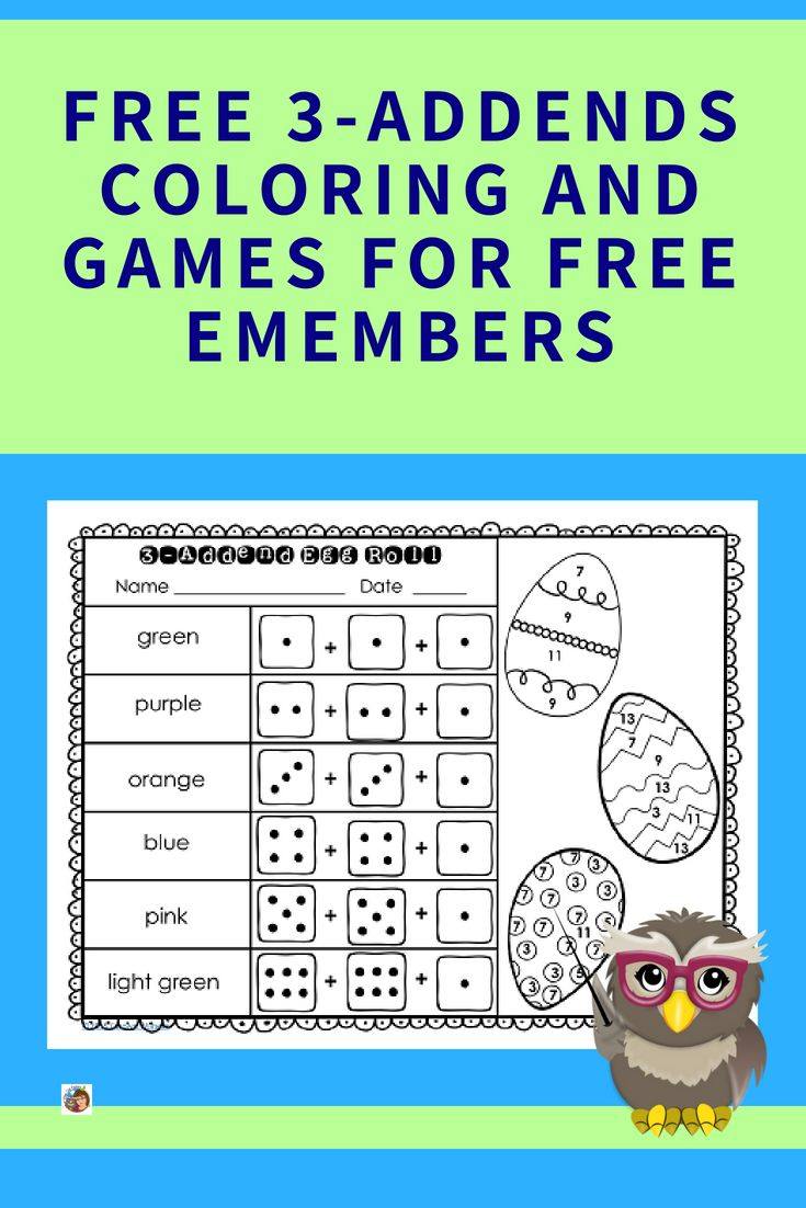 3 Addends Freebie For Emembers Printable Math Games Counting To 20 Freebie [ 1102 x 735 Pixel ]