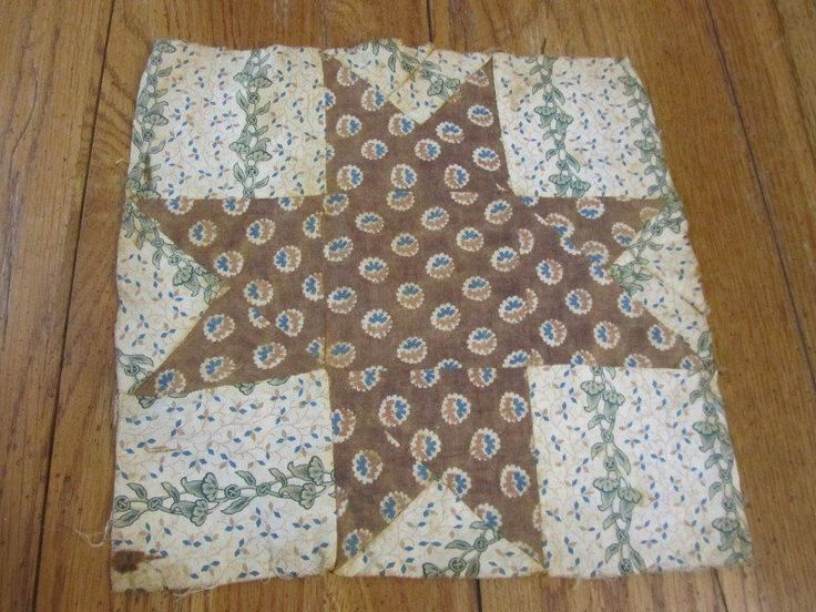 Early 1850 60s Star Quilt Block | eBay