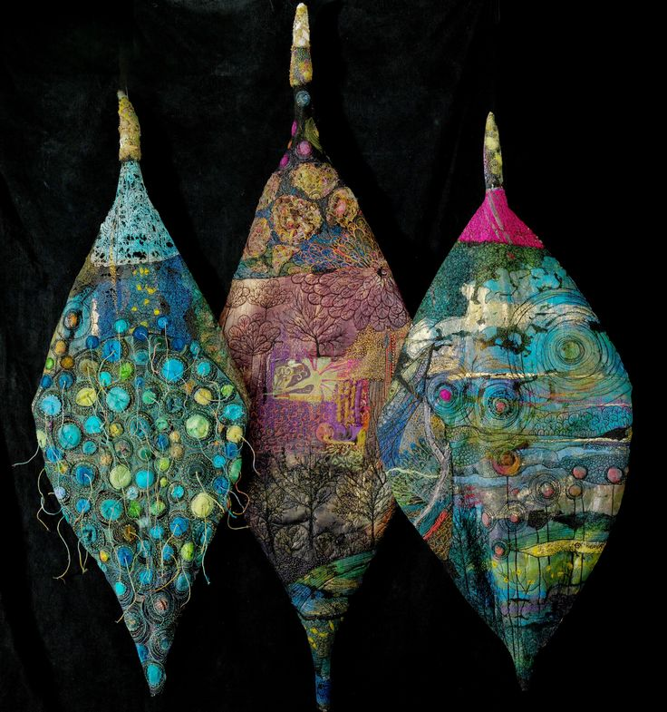 """Gordana Brelih - Three Leaves. In 2010. I received the Grand Prize at """"Threadworks"""" , WCMA, in Fergus, ON"""