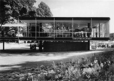 .bak: Pabellón de Alemania en la Exposición de Bruselas, Egon Eiermann y Sep Ruf