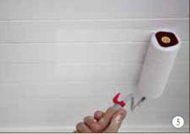 Houten plafond schilderen afwerking verfrol