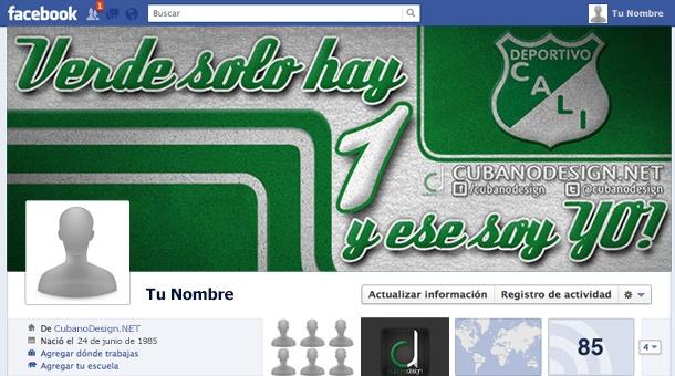 Portada de Facebook del Deportivo Cali - Verde solo hay uno