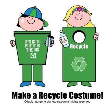 How 2 make a recycle costume & have a RECYCLE Parade 4 Earthday!