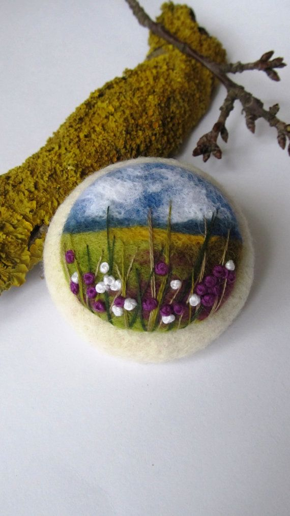 Needle felted brooch Ireland.Felted by FeltAccessories on Etsy