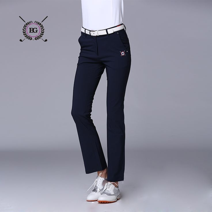 68.50$  Watch now - http://ali7fo.worldwells.pw/go.php?t=32704209166 - Spring women golf long pants nylon fabric girl Golf clothes sports trousers training slim pants all-match elastic top quality