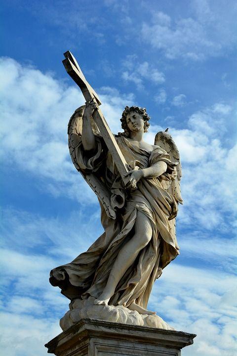 天使の彫刻, 大理石, 像, 宗教, キリスト教, 信仰, カトリック, シンボル, 記念碑, 精神的です