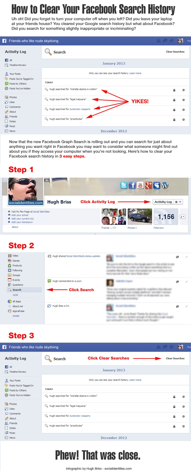 How To Delete Instagram Searches How To Clear Your Facebook Search History How  To Delete Instagram
