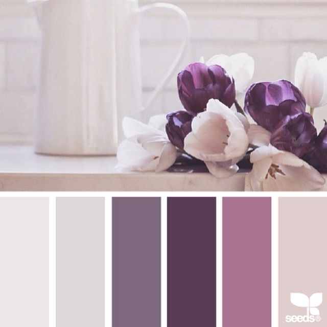 "< sigh > ... take a moment and enjoy the gorgeous inspiration photo by @ofheartandhome ... then click over and follow Bec's incredible feed ~ it is *breathtaking* ... i love this image in particular because it offers a twist on purple ~ pushing it into ""modern berry"" territory ... thank you Bec for the very inspiring #SeedsColor photo, this palette was such a pleasure to create!"