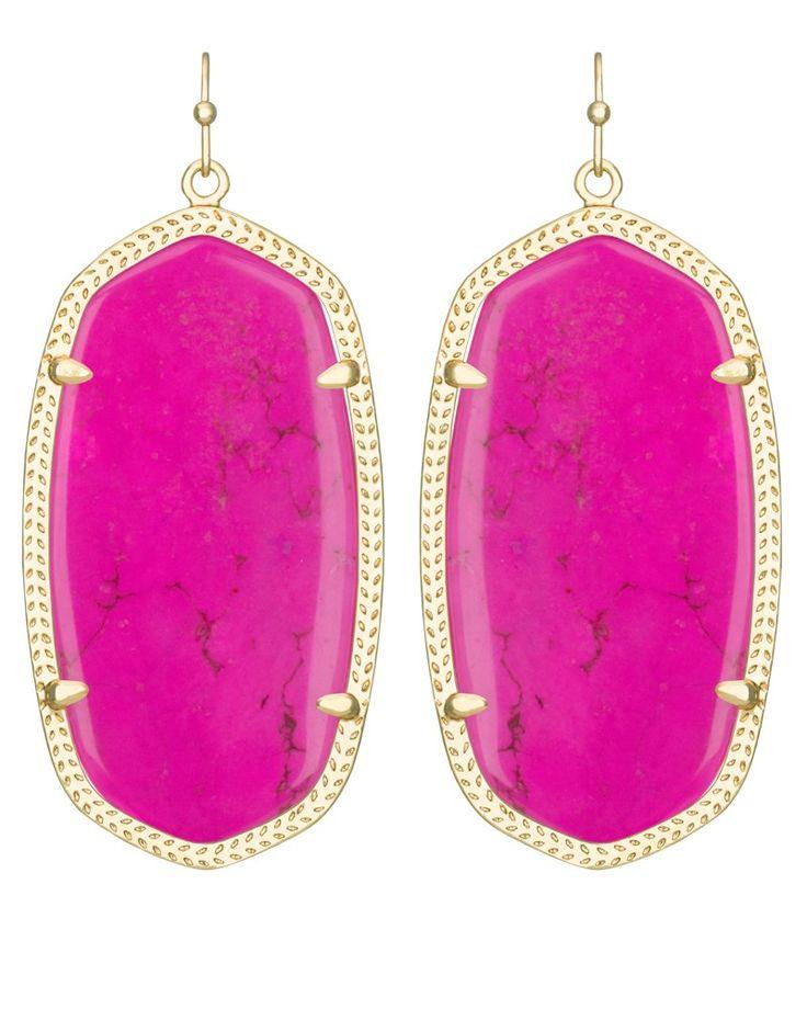Danielle earrings in magenta kendra scott jewelry wish for Kendra scott fine jewelry