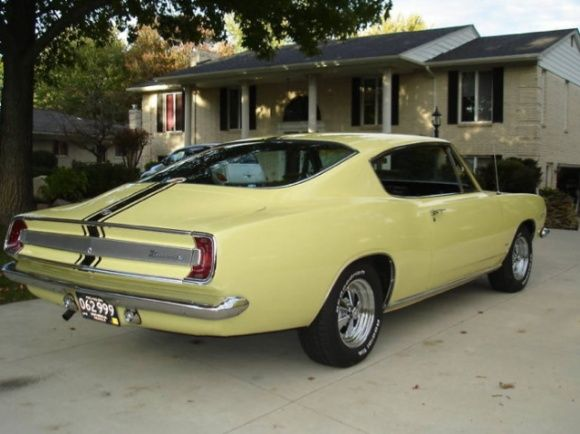 1967 plymouth barracuda fastback sunfire yellow formula s for Barracuda fish for sale