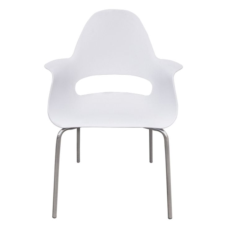 Armchair Travel chrome propylene white ΕΜ133,1