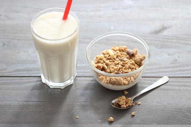 Banaan-havermout smoothie - Lekker en Simpel