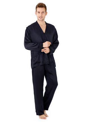 Conjunto de pijama de seda exótica - S074-4